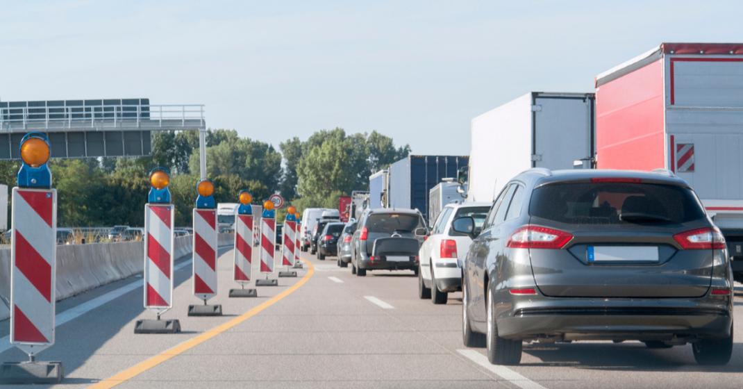 Transportondernemers steeds vaker in de file door wegwerkzaamheden.